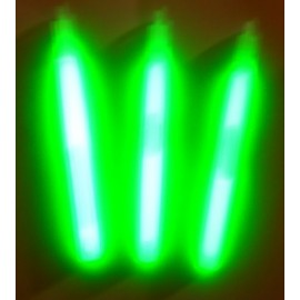 Light sticks 14 cm. gult lys, varer i 48 timer - pakke med 50