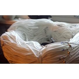 Lange og Kveite: 4.5mm x 500m med 100 snuere - Hvit